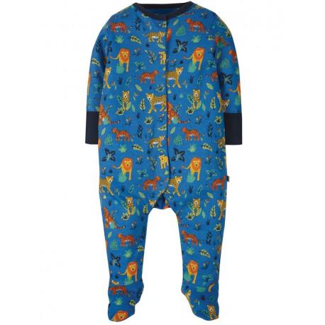 Pyjama bébé en coton bio Frugi, motif fauves