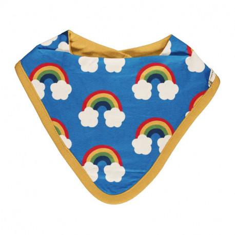 Bavoir bandana en coton bio Maxomorra, motif arc-en-ciel