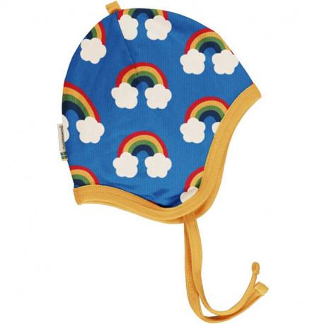 Bonnet en coton bio Maxomorra, motif arc-en-ciel
