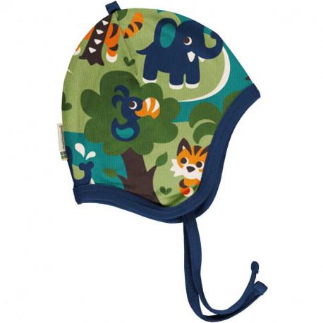 Bonnet en coton bio Maxomorra, motif jungle