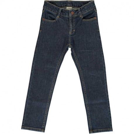 Jean en coton bio Maxomorra, bleu foncé