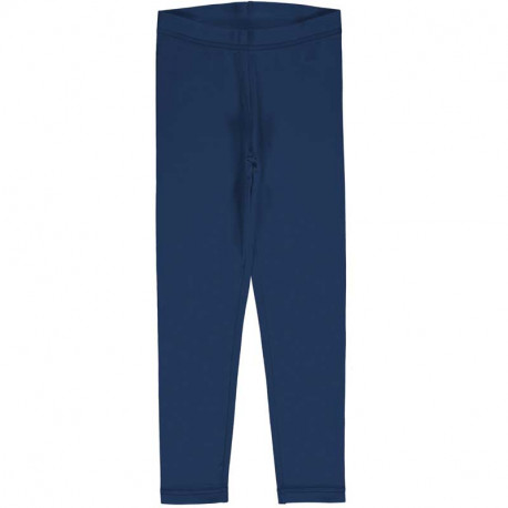 Leggings en coton bio Maxomorra, bleu marine