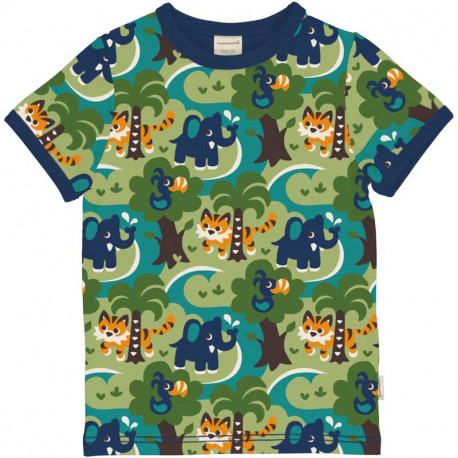 T-shirt manches courtes Maxomorra, motif jungle