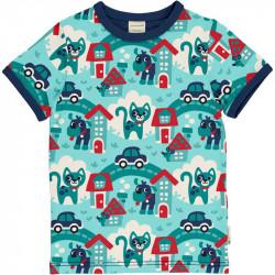T-shirt manches courtes Maxomorra, motif ville