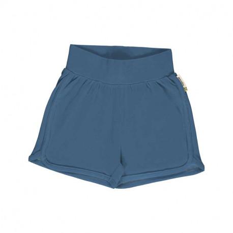Short en coton bio Meyadey, bleu gris