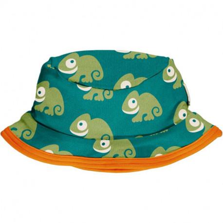 Chapeau d'été en coton bio Maxomorra, motif Caméléon