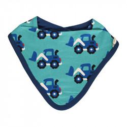 Bavoir bandana en coton bio Maxomorra, motif Chargeur