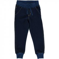 Jogging en coton bio Maxomorra, bleu foncé