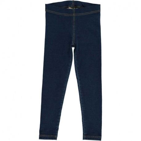 Leggings en coton bio Maxomorra, bleu foncé