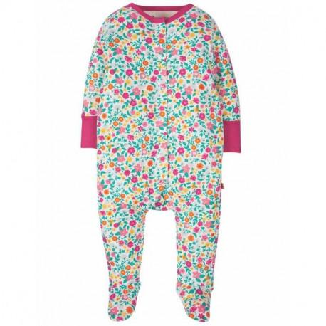 Pyjama en coton bio Frugi, motif petites fleurs