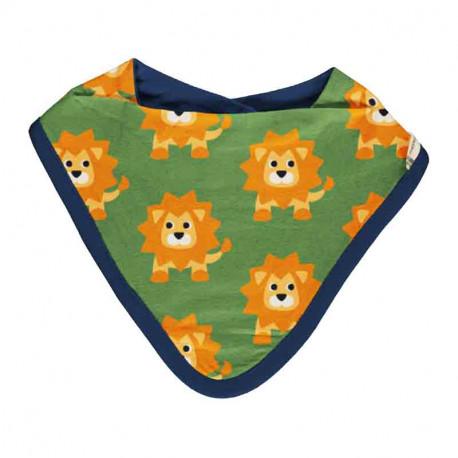 Bavoir bandana en coton bio, motif Lion