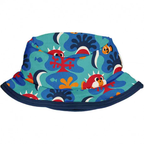 Chapeau d'été en coton bio, motif Barrière de Corail