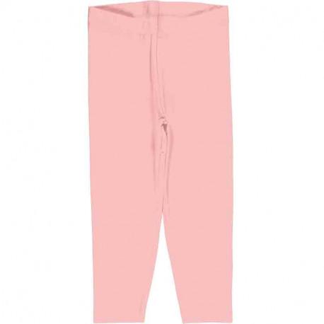 Leggings court en coton bio Maxomorra, rose