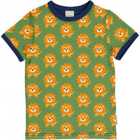T-shirt manches courtes en coton bio Maxomorra, motif Lion