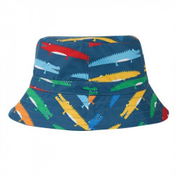 Chapeau de plage Frugi, motif crocodiles