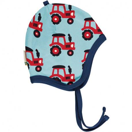Bonnet en coton bio Maxomorra, motif tracteur