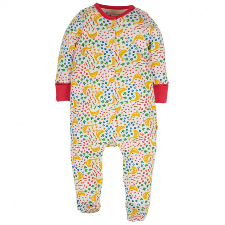 Pyjama bébé en coton biologique Frugi, motif oie