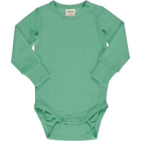 Body manches longues en coton biologique Meyadey, couleur Cascade