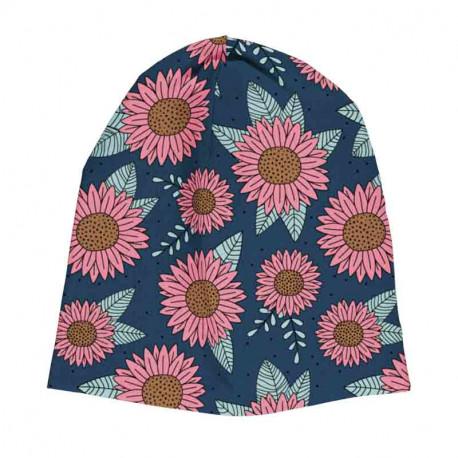 Bonnet en coton biologique Meyadey, motif Tournesols