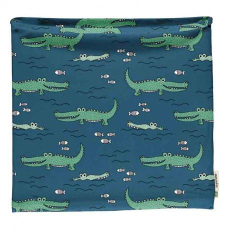 Snood en coton biologique Meyadey, motif Crocodiles