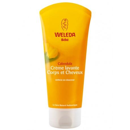 Crème lavante bébé corps et cheveux au calendula Weleda