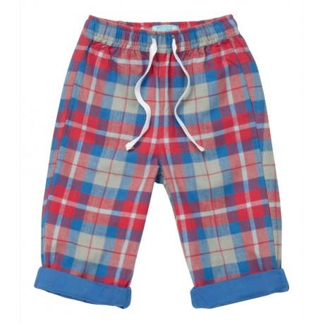 Pantalon coton bio doublé Piccalilly écossais