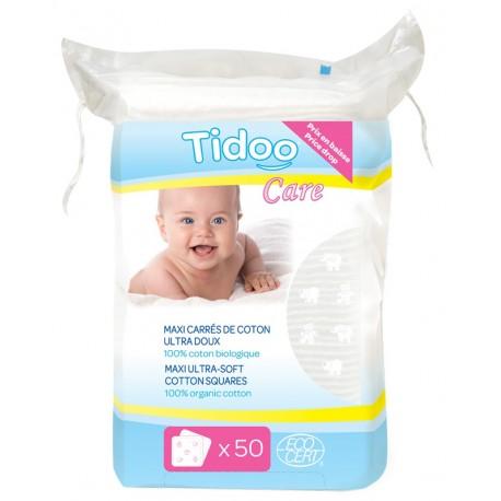 Tidoo Maxi carrés de coton biologique