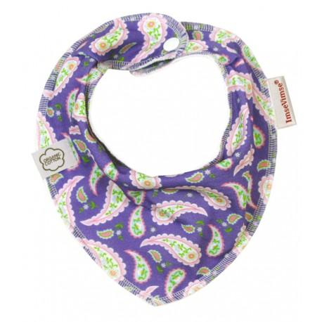 Bavoir bandana en coton bio ImseVimse - Cachemire violet