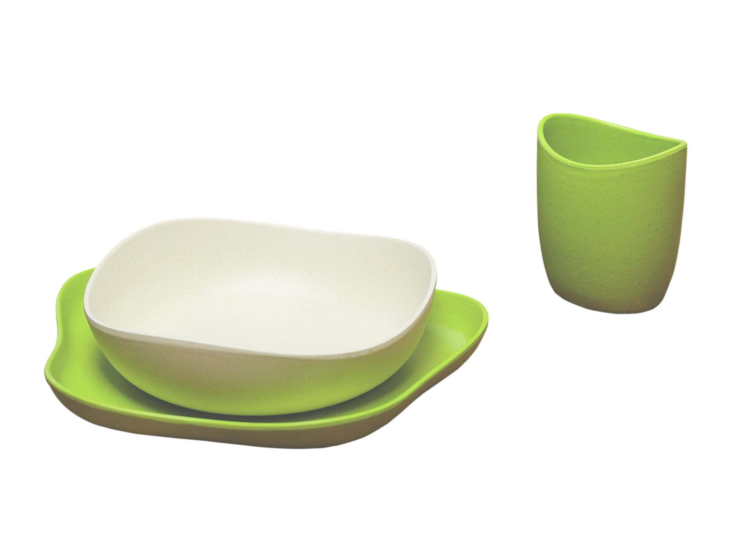 Set de vaisselle écologique Becothings - vert